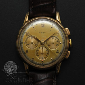 Troy Lemania 'Retailer Commissioned' 18k Gold Chronograph CH27