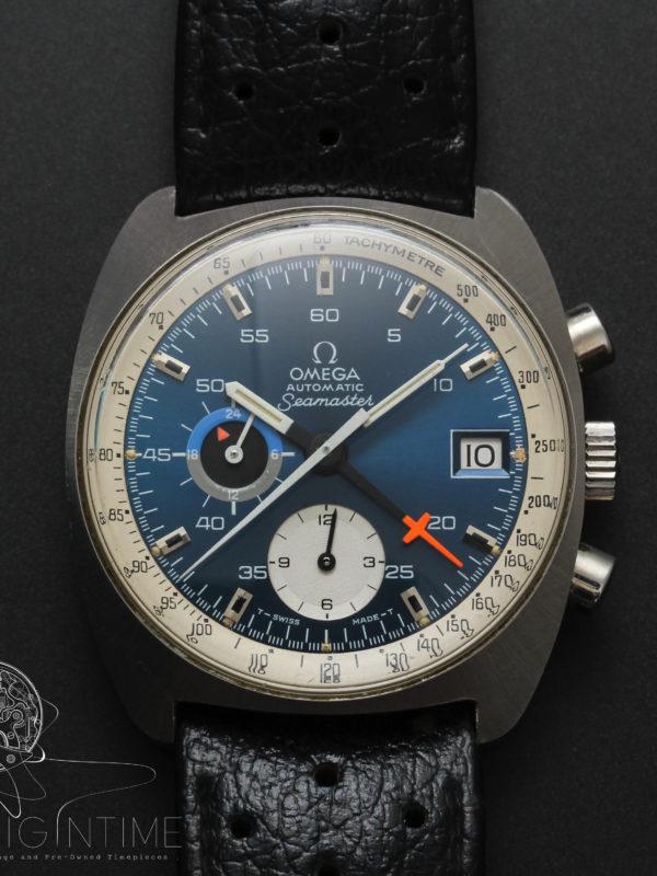 Omega Seamaster Chronograph Original Corfam Strap Cal 1040 Ref 176.007