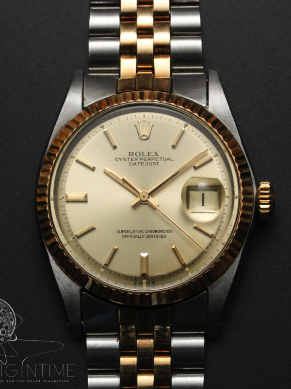1972 Rolex Datejust Oyster Perpetual Ref 1601 Cal 1570 Box & Papers