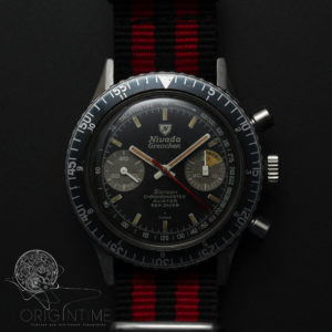 Nivada Grenchen Chronomaster Aviator Sea Diver Sarcon Dial Ref 85004 Valjoux 23 Chronogaph