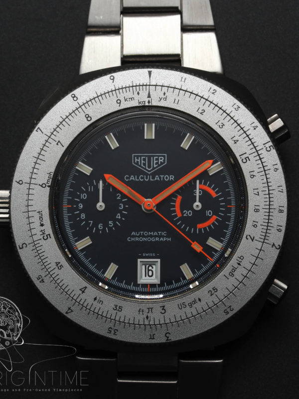 Heuer Calculator Ref 110.663N Cal 12 Automatic Chronograph