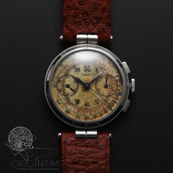 40's Jaeger LeCoultre Universal Geneve Cal 281 Chronograph Vintage Watch