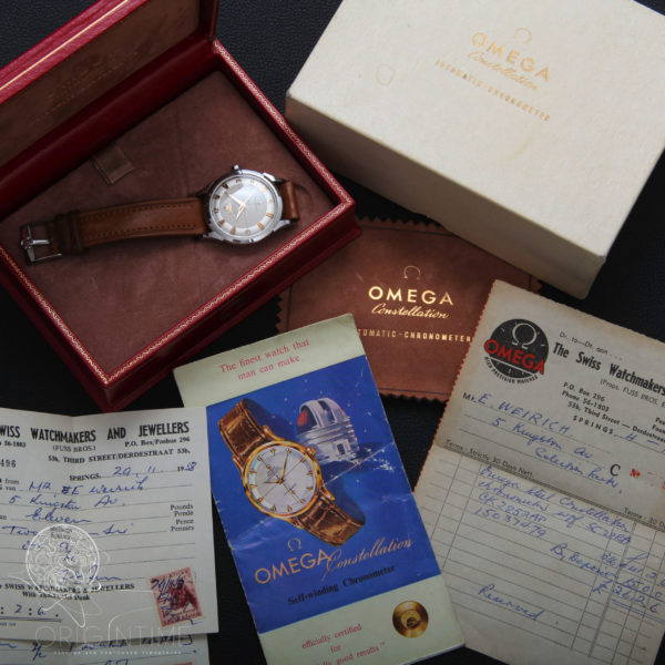 1958 Omega Constellation Ref 2852 Cal 501 Box and Papers