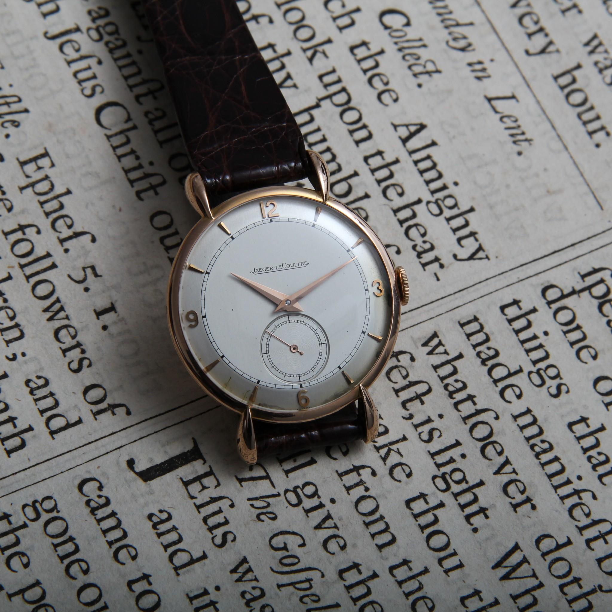 Jaeger LeCoultre Teardrop Lugs manual winding gold wristwatch