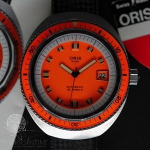 Oris Star Diver Orange Box and Papers